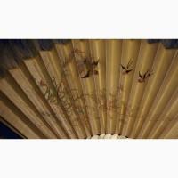 Старинный складной японский веер оги в декоративном футляре. Япония, кон. XVIII - нач. XIX