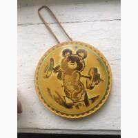Продам настенное панно мишка олимпийский штангист эпохи ссср