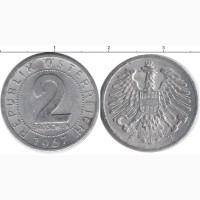 Австрийские 2 гроша 1957г алюминий