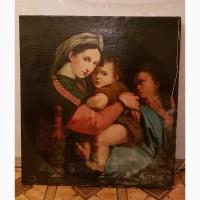Картина «Мария с младенцем и иоанном крестителем» 19 век