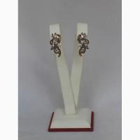 Продаются Золотые серьги с бриллиантами 0, 72ct