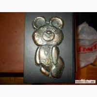 Мишка Олимпийский металл 16 см оригинал