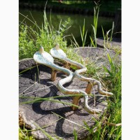Ручки дверные змея кобра латунь патина ручная работа винтаж