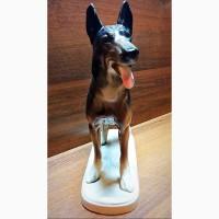 Фарфоровая статуэтка Немецкая овчарка Hertwig Co Германия