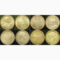 Продам серебряные монеты Германии 1899-1914 г