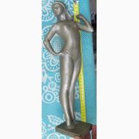 Статуэтка Художественная гимнастка, белый металл ссср