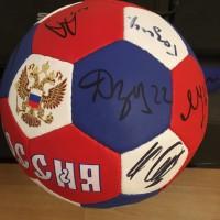 Продам мяч футбольный с автографами Сборной России