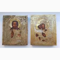Венчальные 2 иконы нач.20 века. антиквариат