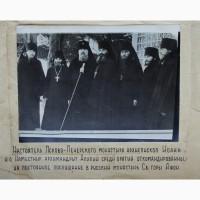 Архиеп.Иоанн (Разумов) и архим. Алипий (Воронов) с братией Псково-Печерского монастыря