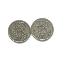 Финские одномарочники серебро 1968 и 1964г