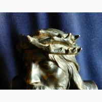 Продам Бронзовый бюст Иисуса Христа в терновом венке. 19 века