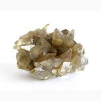 Друза кристаллов кальцита на пирите