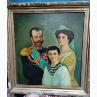 Картина Царская Семья, холст, масло, большая