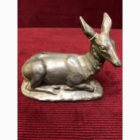 Скульптура Лежащий олень(силумин)