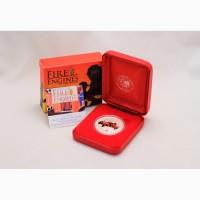 Продается Серебряная монета островов Кука 1$ Bickle 1932 - Пожарные машины мира 2005