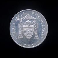 Монета 1958 лир Ватикана