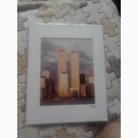 Оригинальное последнее фото башень близнецов. Нью-Йорк