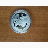 Продам монету Башкортостан, серебро 2007г