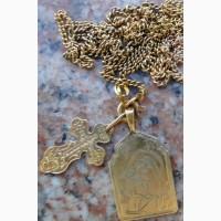 Нательный образ Божiей Матери Игоревская золотой