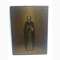 Старинная икона Василия исповедника 19 век