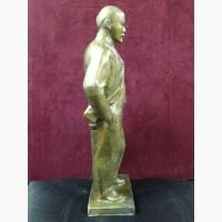 Скульптура в полный рост В.И. Ленина из силумина. СССР
