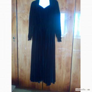 Вечернее бархатное платье, дорогой винтаж 1960-70-х годов