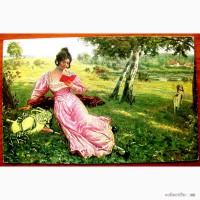 Редкая открытка. Типажи. Фриц Мартин В лесу» 1902 год