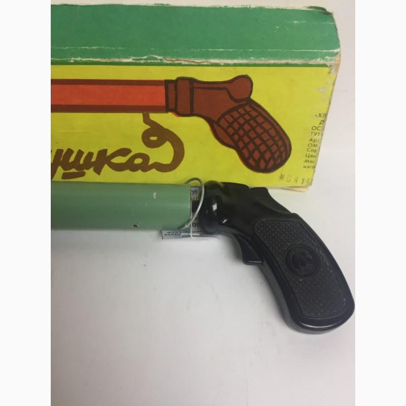 Фото 2. Игрушка СССР Пистолет хлопушка В родной коробке