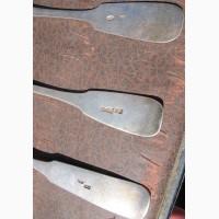 Серебряные столовые ложки 6 штук, царская Россия