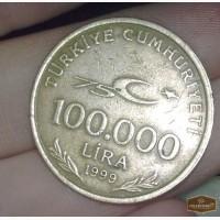 Монета лира турецкая 100000 в Оренбурге