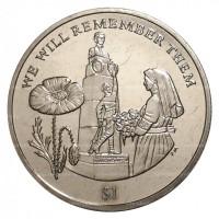 Виргинская монета 2014г 1 доллар