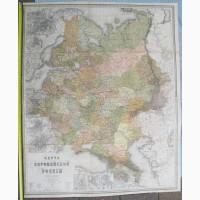 Карта Европейской России, составлена полковником Ильиным, 1877 год