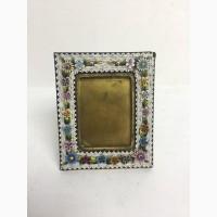 Рамочка для фото (латунь, итальянская мозаика, мальта, стекло) 7х6 см