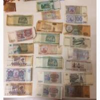 Банкноты банка России 1993 и 1995 года и банкноты банка Беларусь