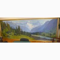 Картина Теберда осенью, художник П.М.Гречишкин