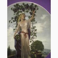 Комплект настенных тарелок Времена года (Чехия ) - 4шт