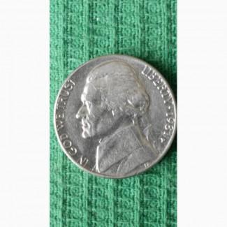 Продам монету 5центов США 1981года
