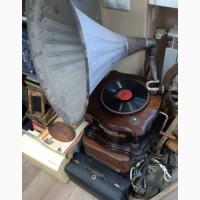 Граммофон старинный, рабочий