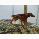 Фарфоровая Статуэтка «Ирландский Сеттер», фарфор, ЛФЗ, охотничья собака