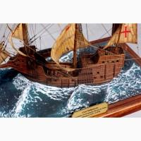 Модель парусного средневекового корабля