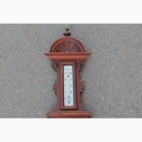 Антикварный барометр с градусником