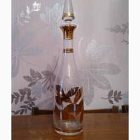 Графин для соков или вина. Чешское стекло. 70-80 годы