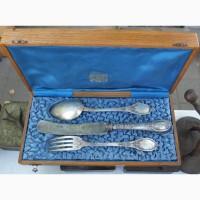 Серебряные приборы эгоист, ложка, вилка, нож, серебро 84 проба