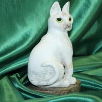Кошка сфинкс авторская работа элитный сувенир оригинальный подарок из натурального камня