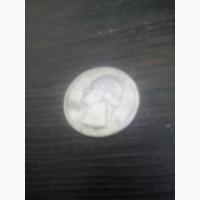 Продам монету liberty quarter dollar 1968 года перевёртыш