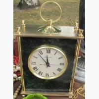 Часы настольные Молния, бронза, змеевик, механика, ссср, рабочие