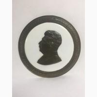 Барельеф И.В Сталин Бронза, эмаль СССР, монетный двор 12, 5 см