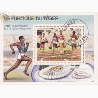 Блок- марка государства Нигерия посвященный олимпиаде 1976г