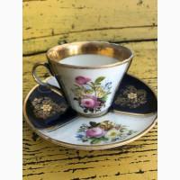 Чайная пара Саксонский букет середина XIX века Франция