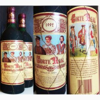 Бутылка испанского вина для коллекции